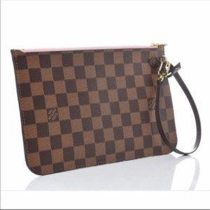 Aut NEW Louis Vuitton Neverfull MM damier pouch